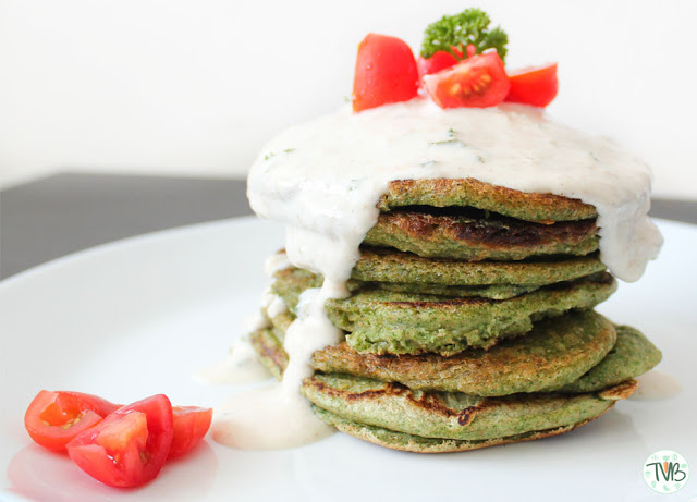 Spinat-Pancakes #vegan