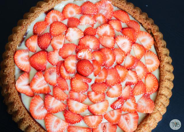 Erdbeerkuchen mit Pudding-Creme #vegan