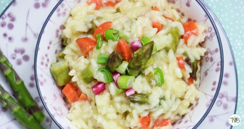 Frühlings Risotto, vegan, vegetarisch, Speiseplan Kalenderwoche neun, mittwoch