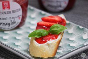 Erdbeere Basilikum Marmelade