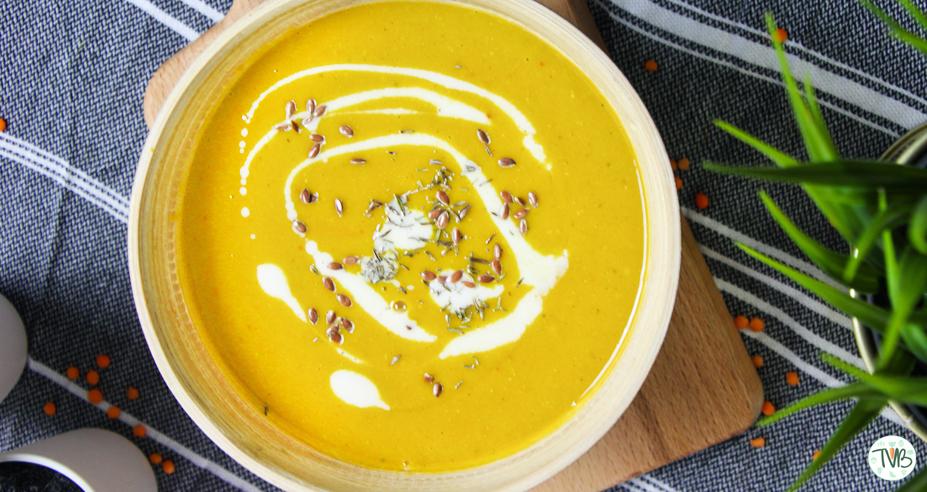 Linsen-Süßkartoffel Suppe #vegan