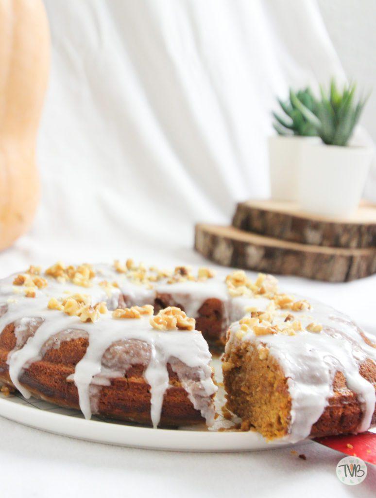 Kürbiskuchen, vegan, ohne Ei, laktosefrei,