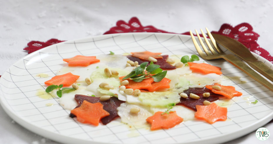 Veganes Gemüse Carpacchio #BloggerXmasDinner