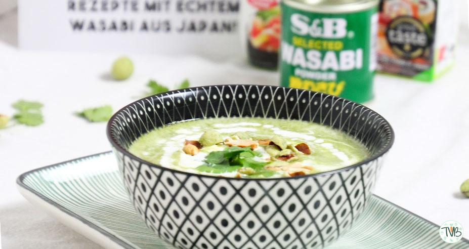 Erbsen-Wasabi Creme Suppe #vegan