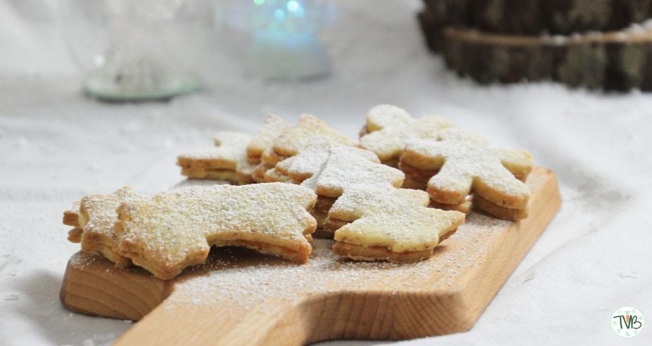 Vegane Mürbteig Kekse mit Marmelade Füllung #Weihnachtsbäckerei