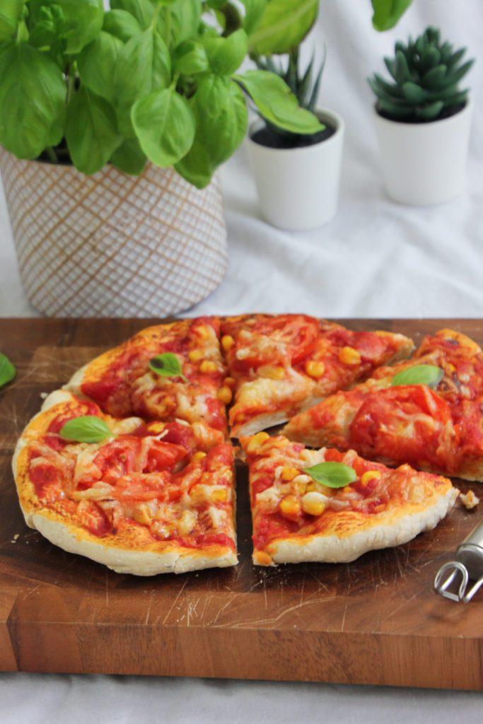 Veggie Pizza aus dem Airfryer Philips, vegan, Gemüse