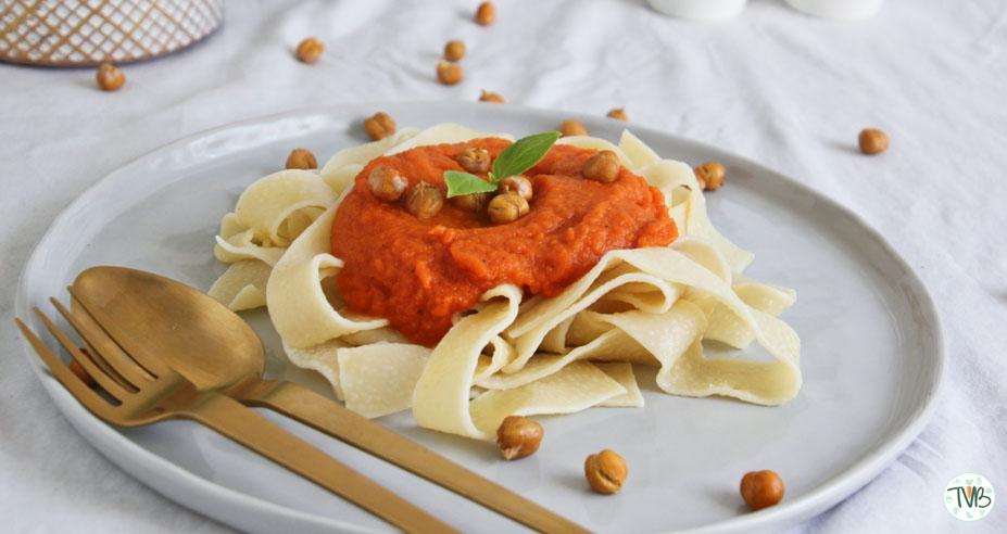 Vegane Süßkartoffel-Karotten Pasta