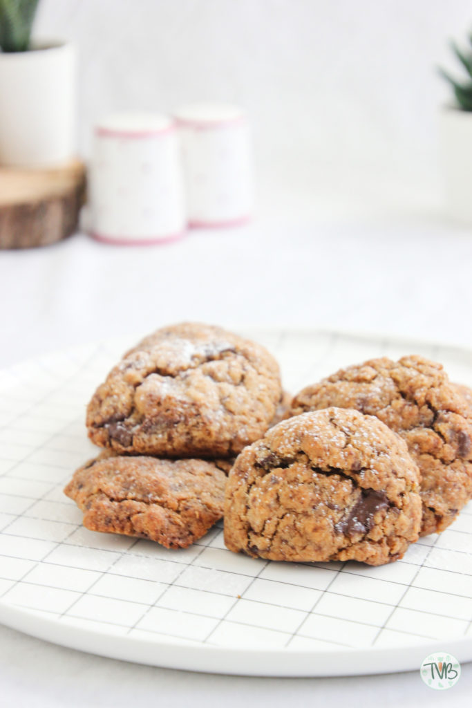 Vegane Schoko Kekse, pflanzlich, dunkle Schokolade