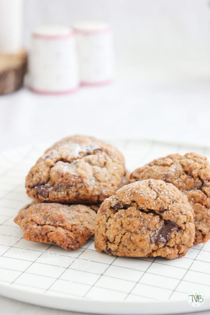 Vegane Schoko Kekse, pflanzlich, dunkle Schokolad, schnell, einfach, lecker