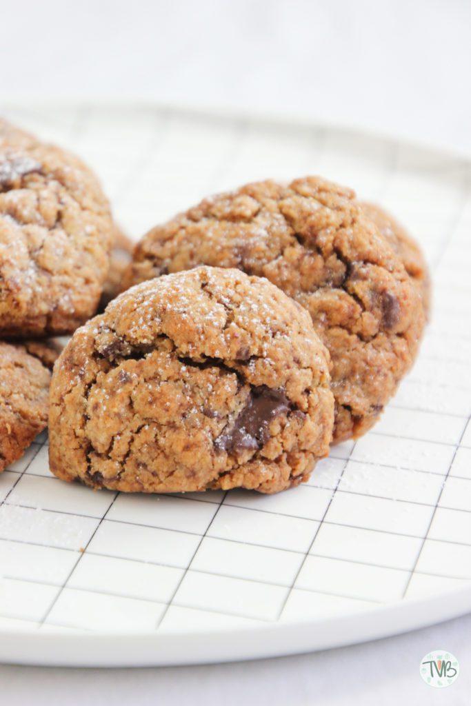 Vegane Schoko Kekse, pflanzlich, ohne Ei