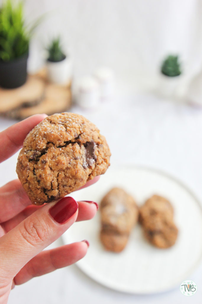 Vegane Schoko Kekse, pflanzlich, dunkle Schokolade, kokosblütenzucker