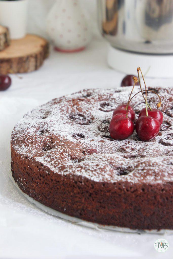 Kirsch Brownies vegan, pflanzlich, ohne Ei