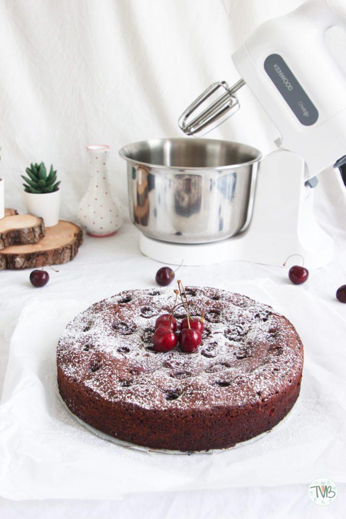 Kirsch Brownies vegan, pflanzlich, ohne Ei, schnell, einfach, saftlich, lecker, Kenwood