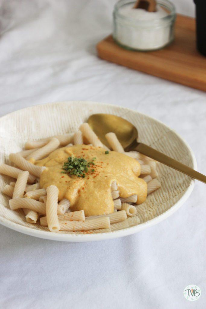 Mac and cheese vegan Cashew, tapioka stärke, rein pflanzlich, Karotte, Kartoffel