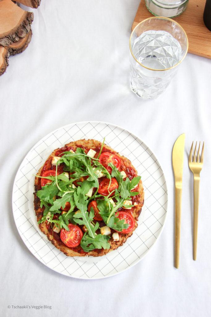Karfiol Pizza, Blumenkohl, vegan