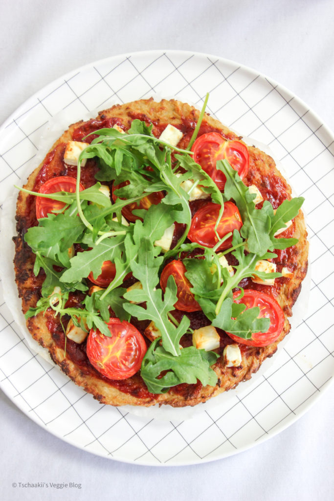 Karfiol Pizza, Blumenkohl, vegan, fitness
