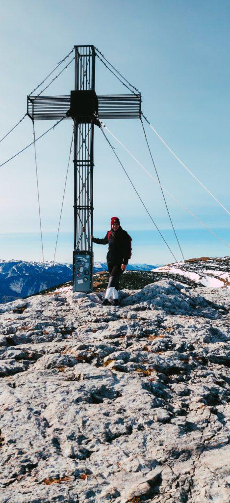 Schneeberg 2020, Gipfelkreuz