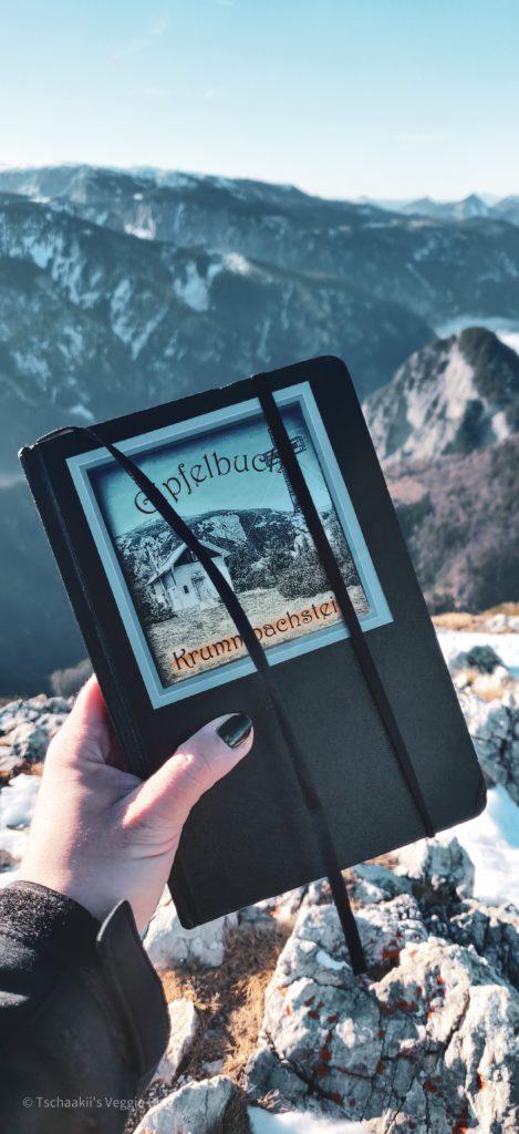 Krummbachstein Dezmber 2020, Gipfelkreuz, Aufstieg, Ausblick, Gipfelbuch
