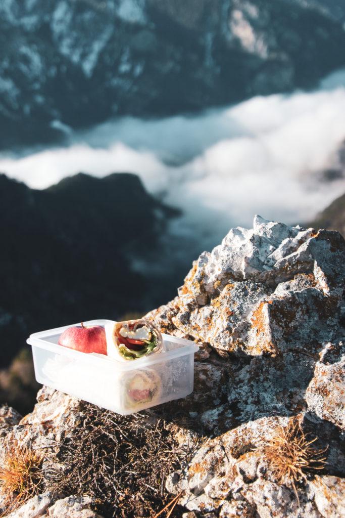 Vegane Jause am Berg